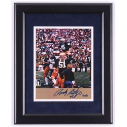 Rudy Ruettiger Signed Notre Dame Fighting Irish 13.5x16.5 Custom Framed Photo Display (Steiner COA)