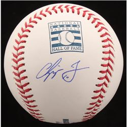 Chipper Jones Signed Hall of Fame OML Baseball (JSA Hologram)
