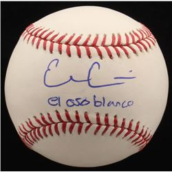 "Evan Gattis Signed OML Baseball Inscribed ""El Oso Blanco"" (Radtke COA)"