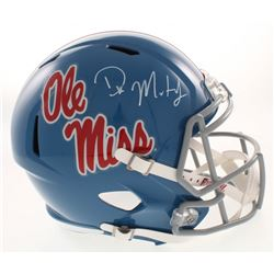 D.K. Metcalf Signed Ole Miss Rebels Full-Size Speed Helmet (Radkte COA)