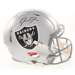 Josh Jacobs Signed Oakland Raiders Full-Size Authentic On-Field Speed Helmet (Radtke COA)