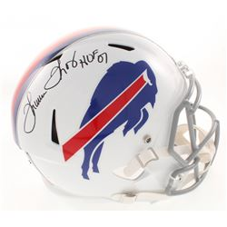 "Thurman Thomas Signed Buffalo Bills Full-Size Speed Helmet Inscribed ""HOF 07"" (Radtke COA)"