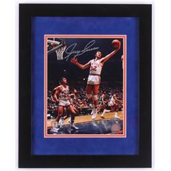 Jerry Lucas Signed New York Knicks 13x16 Custom Framed Photo Display (TriStar Hologram)