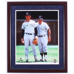 Yogi Berra  Graig Nettles Signed New York Yankees 22x26 Custom Framed Photo Display (Steiner COA  ML