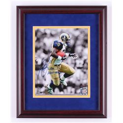 "Marshall Faulk Signed St. Louis Rams 12.75x15.75 Custom Framed Photo Display Inscribed ""HOF 20XI"" (S"