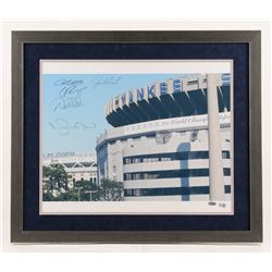New York Yankees LE 22x26 Custom Framed Photo Display Signed By (5) with Joe Girardi, Derek Jeter, A