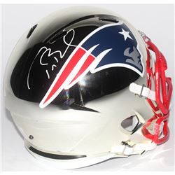 Tom Brady Signed New England Patriots Full-Size Chrome Speed Helmet (TriStar Hologram  Steiner COA)