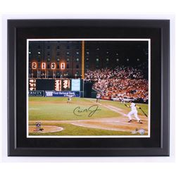 Cal Ripken Jr. Signed Baltimore Orioles 22x26 Custom Framed Photo (Steiner COA  MLB Hologram)