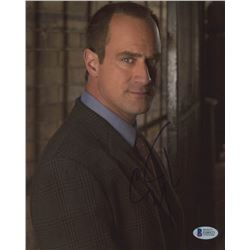 "Christopher Meloni Signed ""Law  Order: Special Victims Unit"" 8x10 Photo (Beckett COA)"
