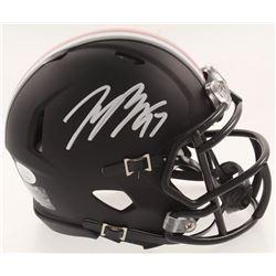 Joey Bosa Signed Ohio State Buckeyes Matte Black Speed Mini-Helmet (JSA COA)