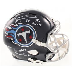 "Jevon Kearse Signed Tennessee Titans Full-Size Speed Helmet Inscribed ""The Freak"", ""99 DROY""  ""74 Ca"