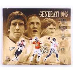 Archie Manning, Peyton Manning,  Eli Manning Signed 19x23 Photo on Canvas (Steiner Hologram)