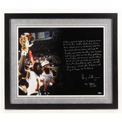 Doug Williams Signed Washington Redskins Super Bowl XXII 22x26 Custom Framed Photo Display with Exte