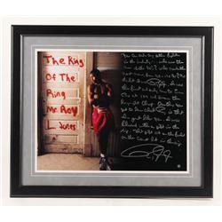 Roy Jones Jr. Signed 22x26 Custom Framed Photo Display with Extensive Story Inscription (Steiner COA