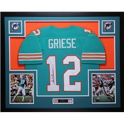 Bob Griese Signed 35x43 Custom Framed Jersey (JSA COA)