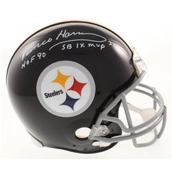 """Franco Harris Signed Pittsburgh Steelers Throwback Full-Size Authentic On-Field Helmet Inscribed """"HO"""