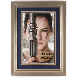 "Daisy Ridley Signed ""Star Wars: The Force Awakens"" 22x26 Custom Framed Photo (PSA COA  Steiner COA)"