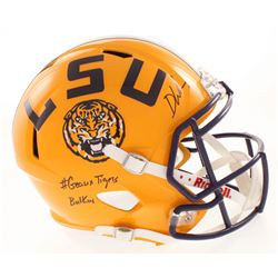 "Devin White Signed LSU Tigers Full-Size Speed Helmet Inscribed ""#Geaux Tigers""  ""Butkus"" (Beckett CO"