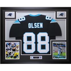 Greg Olsen Signed 35x43 Custom Framed Jersey (JSA COA)