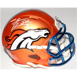 "Jake Plummer Signed Denver Broncos Mini Blaze Speed Helmet Inscribed ""Snake"" (Beckett COA)"
