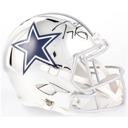 Tony Romo Signed Dallas Cowboys Full-Size Chrome Speed Helmet (Beckett COA)