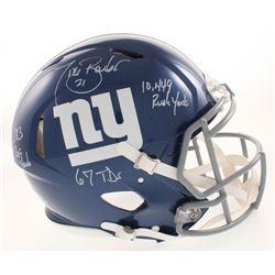 Tiki Barber Signed New York Giants Full-Size Authentic Helmet with Multiple Inscriptions (JSA COA)