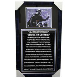 "David Prowse Signed ""Star Wars"" 20x34 Custom Framed Photo Display Inscribed ""Darth Vader"" (Sports Co"