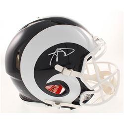 Aaron Donald Signed Los Angeles Rams Full-Size Authentic On-Field Speed Helmet (JSA COA)