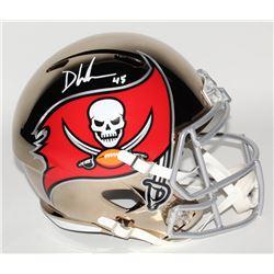 Devin White Signed Tampa Bay Buccaneers Full-Size Chrome Speed Helmet (Beckett COA)