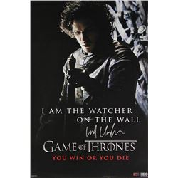 """Kit Harington Signed """"Game of Thrones"""" 24x36 Watcher on the Wall Poster (Radtke COA)"""