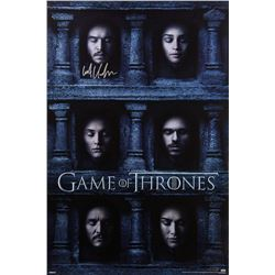 """Kit Harington Signed """"Game of Thrones"""" 24x36 Hall of Faces Poster (Radtke COA)"""