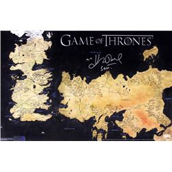 "John Bradley Signed ""Game of Thrones"" 11x17 Westeros Map Photo Inscribed ""Sam"" (Radtke COA)"