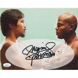 """Manny Pacquiao Signed 8x10 Photo Inscribed """"Pacman"""" (JSA COA)"""