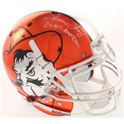 "Thurman Thomas Signed Oklahoma State Cowboys Full-Size Authentic On-Field Helmet Inscribed ""2x All-A"