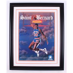 "Bernard King Signed New York Knicks 25x31.25 Custom Framed Photo Display Inscribed ""It's Good to Be"