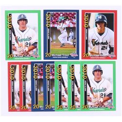 Lot of (10) Mike Trout 2010 Cedar Rapids Kernels Rising Alumni Team Issue Baseball Cards with (3) #1