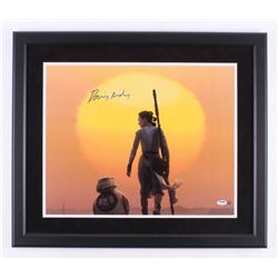 "Daisy Ridley Signed ""Star Wars: The Force Awakens"" 22x26 Custom Framed Photo Display (PSA COA  Stein"