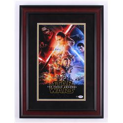 "Daisy Ridley Signed ""Star Wars: The Force Awakens"" 17x23 Custom Framed Photo Display (PSA COA  Stein"
