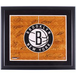 Brooklyn Nets 22.5x26.5 Custom Framed Photo Team-Signed by (12) with Tyshawn Taylor, Andrei Kirilenk