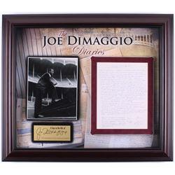 "Joe DiMaggio Hand-Written ""The Joe DiMaggio Diaries"" 24x28 Custom Framed Diary Page Display (Steiner"