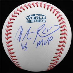 """Steve Pearce Signed Official 2018 World Series Baseball Inscribed """"WS MVP"""" (JSA COA)"""