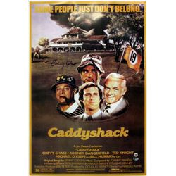 """Chevy Chase Signed """"Caddyshack"""" 24x36 Movie Poster (Beckett COA  Chase Hologram)"""