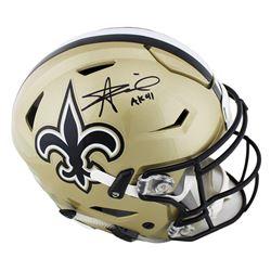 "Alvin Kamara Signed New Orleans Saints Full-Size Authentic On-Field SpeedFlex Helmet Inscribed ""AK 4"