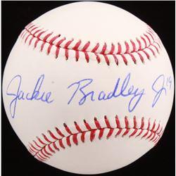 Jackie Bradley Jr. Signed OML Baseball (MLB Hologram)