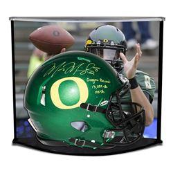 "Marcus Mariota Signed LE Oregon Ducks Full-Size Authentic On-Field Speed Helmet Inscribed ""Oregon Re"