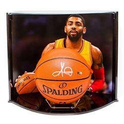 Kyrie Irving Signed NBA Game Ball Series Basketball with Custom Curve Display Case (Panini COA)