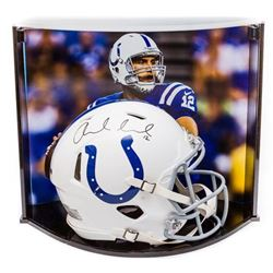 Andrew Luck Signed Indianapolis Colts Full-Size Authentic On-Field Speed Helmet with Custom Curve Di