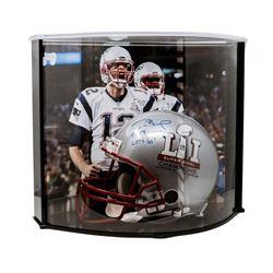 "Tom Brady Signed LE New England Patriots ""Super Bowl 51"" Full-Size Authentic On-Field Helmet Inscrib"