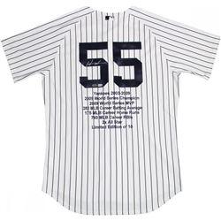 Hideki Matsui Signed LE  Career Highlight Stat Jersey (Steiner COA  MLB Hologram)