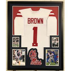 AJ Brown Signed 34x42 Custom Framed Jersey (JSA COA)